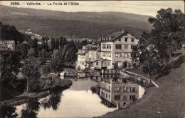 Cp Vallorbe Kt. Waadt, La Foula Et L'Orbe, Usines Metallurgiques - VD Vaud