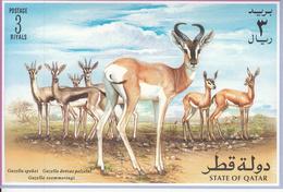 1996 Qatar Gazelles Mammals   Complete Set Of 6 + Souvenir Sheet  MNH - Qatar