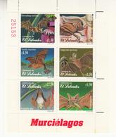 1999 El Salvador Bats Complete  Souvenir Sheet Of 6 MNH - El Salvador