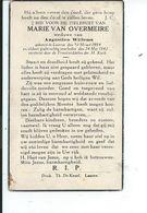 B.P.   LAARNE VAN OVERMEIRE MARIE 1884 - 1942 - Religion &  Esoterik