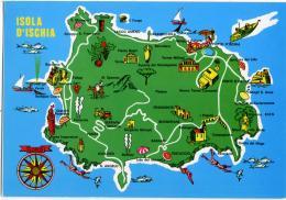 ISCHIA  NAPOLI  Cartina Dell'Isola D'Ischia - Carte Geografiche