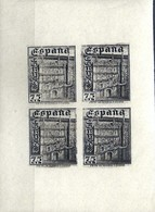 ESPAÑA 1946 1003 FN BL4 ** MNH VC 80 EUROS - 1931-Today: 2nd Rep - ... Juan Carlos I