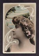 CPA ARTISTE FEMME - DE MORNAND - Photo Reutllinger Paris Décor Médaillon Frise Art Nouveau - Artistes