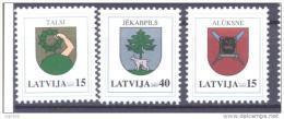 LATVIA 2005 Definitive: Arms Of 3 MNH / **.  Michel 628-30 - Latvia
