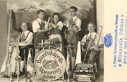 -themes Div.-ref-A160- Musique - Orchestre Bauernkapelle - Alpenros - Schwaz - Instruments Dont Accordeon - Autriche - - Musique Et Musiciens