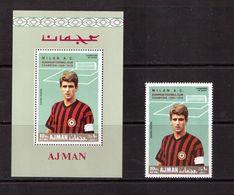 Ajman-1969,(Mi.462,Bl.144), Football, Soccer, Fussball,calcio,MNH - Soccer