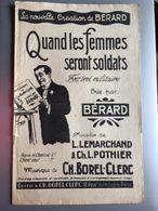 Partition Musicale Fox Trot Militaire Quand Les Femmes Seront Soldats Berard - Noten & Partituren
