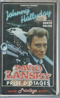 """K7 VIDEO  -  DAVID LANSKY   """" PRISE D'OTAGE """" - JOHNNY HALLYDAY - Policiers"""