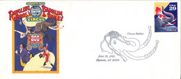 USA FDC 30-6-1993 Circus With Elephant Postmark And Nice Cachet - First Day Covers (FDCs)