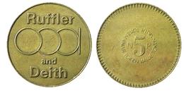 00266 GETTONE JETON TOKEN VENDING MACHINE RUFFLER AND DEITH 5np - Unclassified