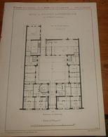 Plan D'une Maison Du Boulevard De Strasbourg à Paris, N°19. 1860 - Travaux Publics