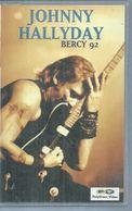 """K7 VIDEO  -  JOHNNY HALLYDAY   """" BERCY 92 """" - - Concert Et Musique"""