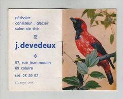 Devedeux Pâtissier Confiseur Glacier Salon De Thé Caluire Calendrier  1972 - Vieux Papiers