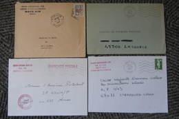 Lot De 4 Enveloppes De L'agence Postale Militaire De L'air De Metz - Militärstempel Ab 1900 (ausser Kriegszeiten)