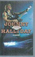 """K7 VIDEO  -  JOHNNY HALLYDAY   """" DESTINATION VEGAS - LE CONCERT """" - - Concert Et Musique"""