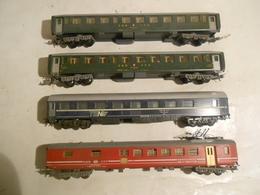 Lima-HO-ANCIEN-RAME-DE-4-VOITURES-SBB-FFS-SUISSE-RESTAURANT-TEN-COUCHETTES + 2° CLASSE - Passenger Trains