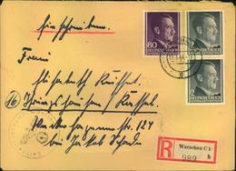 GENERALGOUVERNEMENT, 1944, Portogerechtes Einschreiben Ab WARSCHAU C 1 - Besetzungen 1938-45