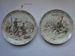 2 Assiettes Nos Sous Offs Creil Montereau - Plates