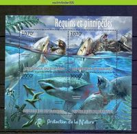 Nep053 FAUNA 'VISSEN FISH FISCHE' HAAI ZEEHOND SEAL MAMMALS ARCTIC WHITE SHARK HAIE MARINE LIFE BURUNDI 2012 PF/MNH - Fische