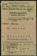 GENERALGOUVERNEMENT,  Einlieferungsschein Für Eine PostanweisungWARSCHAU C 1 / DP OST 4 - Besetzungen