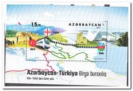 Azerbeidzjan 2017, Postfris MNH, Trains - Azerbeidzjan