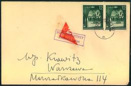 """GENERALGOUVERNEMENT,  1941, """"Poststützpunkt Podkowa Lenna"""" Halbierte Portomarke - Besetzungen"""