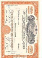 1 Stück - 15 Shares - The Pennsylvania Railroad Company 19.6.1962 - Entwertet - Chemin De Fer & Tramway