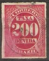 Brazil - 1890 Postage Due 200r Used  SG D62 - Postage Due