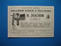 (1927) Sellerie Civile & Militaire H. JOACHIM Rue Albouy à Paris -- VERRERIES LORRAINES à Sarrebourg (Moselle) - Zonder Classificatie
