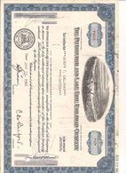 1 Stück - 18 Shares - The Pittsburgh And Lake Erie Railroad Company 13.6.1968 - Entwertet - Chemin De Fer & Tramway
