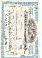 1 Stück - 50 Shares - General Motors Corporation 3.2.1981 - Entwertet - Automobile