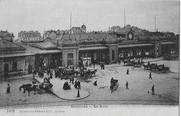 LAUSANNE → La Gare / Bahnhofplatz Mit Vielen Kutschen, Ca.1910 - VD Vaud