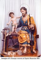 Oppido Mamertina RC - Santino Poster SAN GIUSEPPE - PERFETTO - Religione & Esoterismo