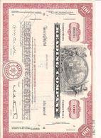 1 Stück - 100 Shares - Reading Company 12.7.1968 - Entwertet - Chemin De Fer & Tramway