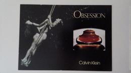 VERY RARE Calvin Klein Obsession Parfum Carte Postale - Perfume Cards