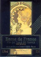 1 Etiquette Ancienne De VIN - DAME DE FRANCE - VIN DE TABLE DE FRANCE - MUCHA - Art Nouveau