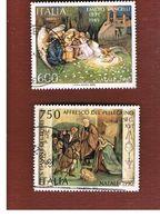 ITALIA REPUBBLICA  - SASS. 1945.1946    -      1990 NATALE   -      USATO - 1946-.. Republiek
