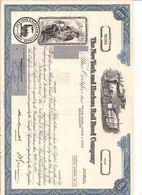 1 Stück - 9 Shares - The New York And Harlem Rail Road Company 25.3.1981 - Entwertet - Chemin De Fer & Tramway