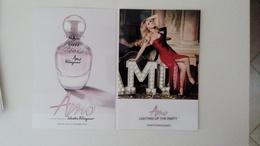 Salvatore Ferragamo AMO Parfum Carte Size Carte Postale - Perfume Cards
