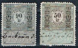 2 Timbres Fiscales Austriacos 50kr (1883) & 90kr(1893) - Steuermarken
