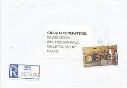 Malta 2000 Gzira Computer Harbour Registered Cover - Malta
