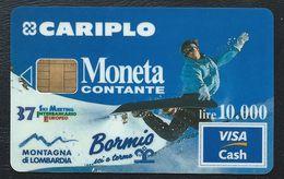 VISA CASH MONETA CARIPLO Bormis 37eme Ski Meeting Interbancario CB MONEO Visacash - Cartes De Crédit (expiration Min. 10 Ans)