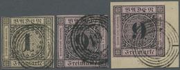 O/Brfst Baden - Marken Und Briefe: 1851, 1 Kr. Ziffer Im Kreis Schwarz Auf Braun, Gest. Oben Minimal Berührt - Baden