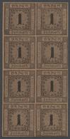 ** Baden - Marken Und Briefe: 1866, 1 Kr. Schwarz/rotbraun, Neudruck, Allseits Außerordentlich Breitran - Baden