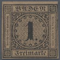* Baden - Marken Und Briefe: 1866, 1 Kr. Schwarz/rotbraun Als Ungebrauchter Neudruck, Allseits Gut Ger - Baden