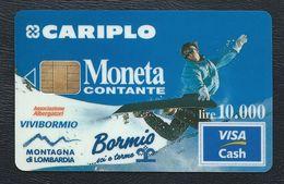 VISA CASH MONETA CARIPLO Bormis Associazione Albergatori Vivibormio CB MONEO Visacash - Cartes De Crédit (expiration Min. 10 Ans)