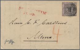 Br Baden - Marken Und Briefe: 1851, 9 Kr. Schwarz Auf Lilarosa (oben Berührt, Sonst Vollrandig) Auf Fri - Baden