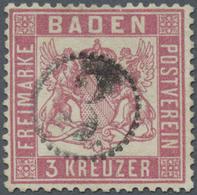 O Baden - Marken Und Briefe: 1862, Wappenausgabe 3 Kr. Rosa Mit Enger Zähnung In Farbfrischer, Gut Zen - Baden
