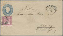 GA Baden - Marken Und Briefe: 1858/1862, 3 Kreuzer Preußischblau Kleines Format Mit Zusatzfrankatur 3 K - Baden