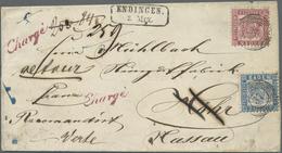 """Br Baden - Marken Und Briefe: 1862, Wappenausgabe 6 Kr. Preussischblau Und 3 Kr. Rot Je Mit Nr.-St. """"37 - Baden"""